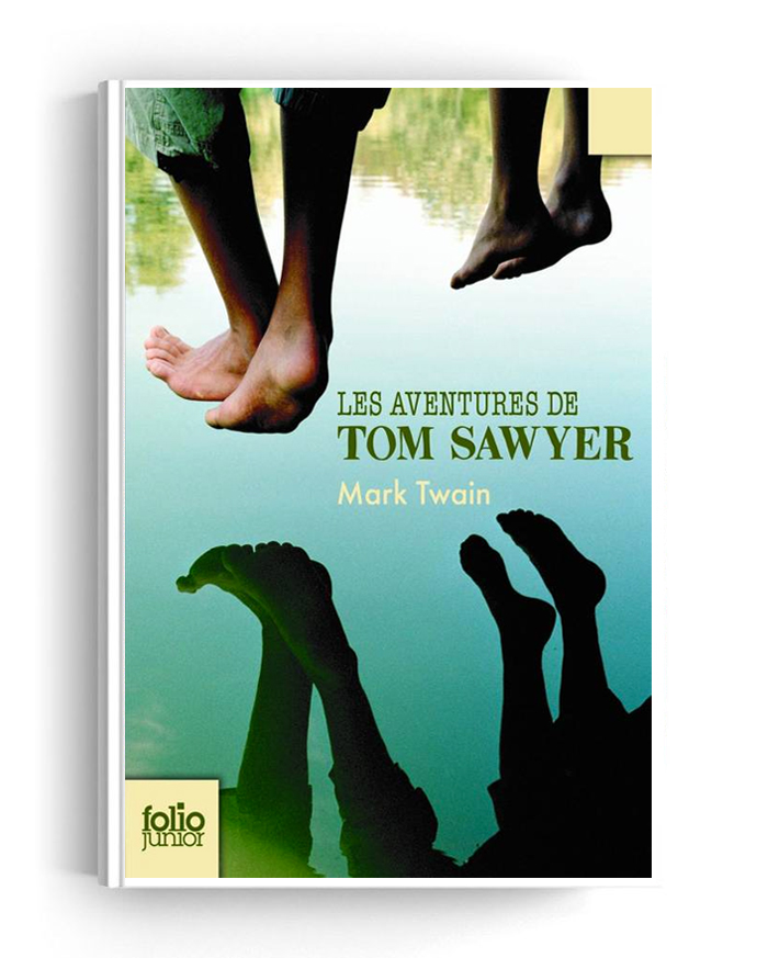 Couverture du roman de Mark Twain - Les aventures de Tom Sawyer (1876)